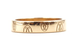 Cartier 18K gold Happy Birthday band ring size 51 3.9mm wide
