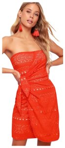 Free People short dress Red, Coral on Tradesy