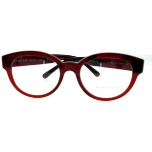 Burberry BE2209-3591-53 Round Women's Red Frame Clear Lens Genuine Eyeglasses