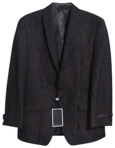 Sean John Designer Sport Coat 38s Black & Purple Blazer