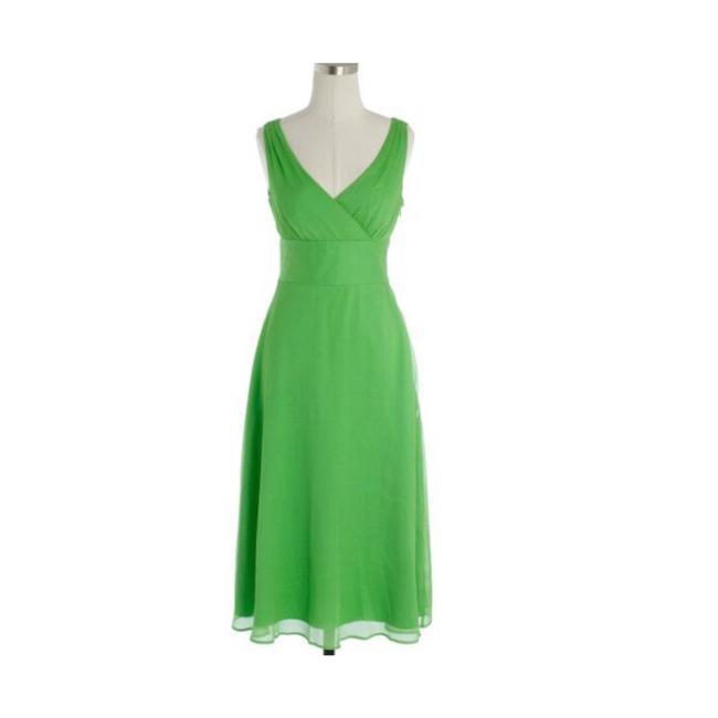 Item - Green 96454 Mid-length Cocktail Dress Size 4 (S)