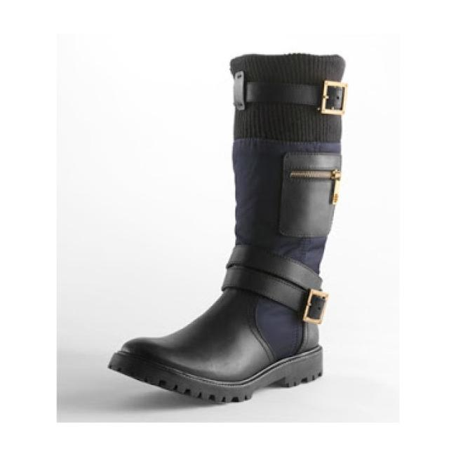 Item - Black/Navy Mid-calf Ty Boots/Booties Size US 5 Regular (M, B)