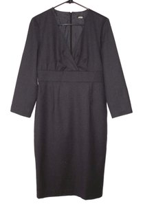 J.Crew Wool Sheath Charcoal Dress