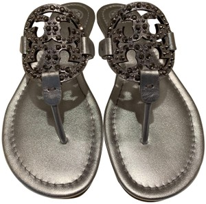 Tory Burch Silver Metallic Sandals