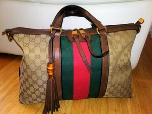 Gucci Satchel in Red Green-Brown
