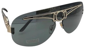 17265841d202 Versace New VERSACE Sunglasses VE 2131 1252 87 130 Gold   Smoke Grey Shield  Fr