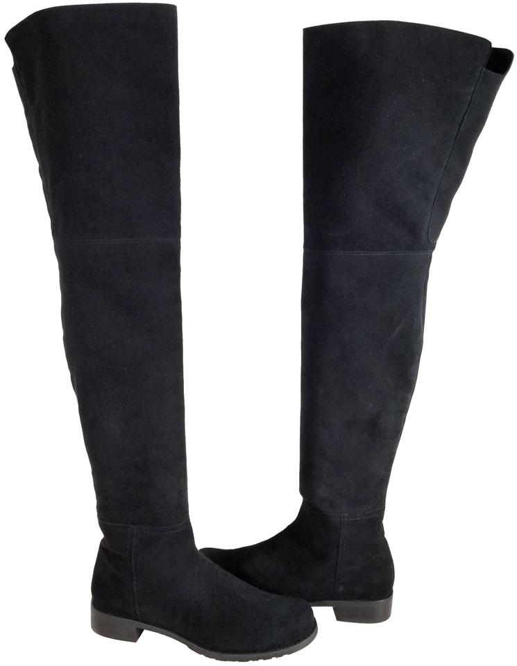 4ef6f0ad18d73 Stuart Weitzman Black Suede  hilo  Thigh High Over The Knee Boots Booties.  Size  US 8 Regular (M ...