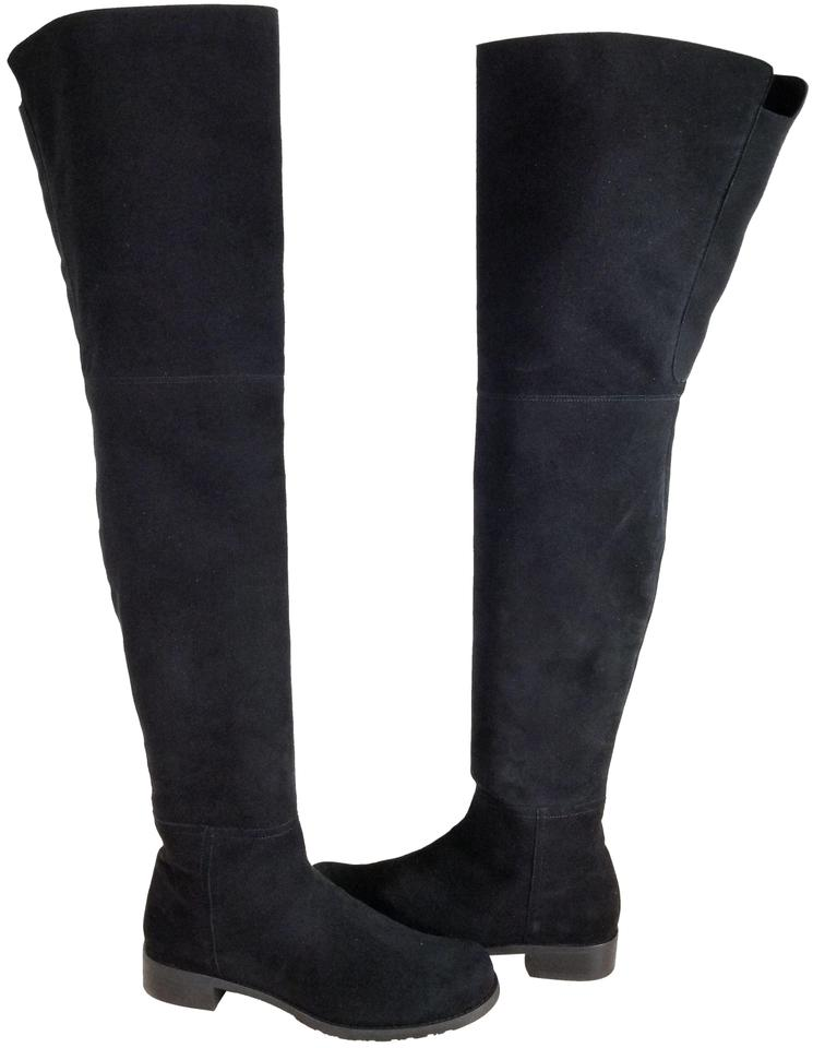 e851a9df591 Stuart Weitzman Black Suede 'hilo' Thigh High Over The Knee Boots/Booties.  Size: US 9 ...