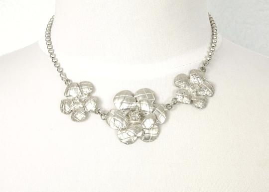 Chanel Lime New Authentic Chanel Sliver Camellia Charms Necklace