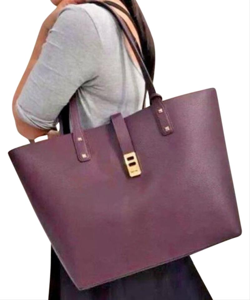 3b39e8c586a0 Michael Kors Leather Satchel Dusty Rose 35f7gbdt1l Tote in purple Image 0  ...