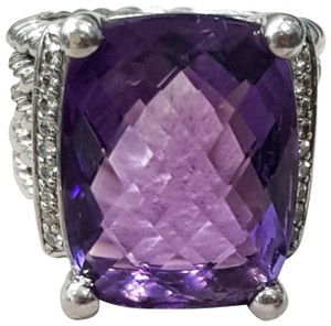 David Yurman David Yurman Wheaton Purple Amethyst Diamond Ring