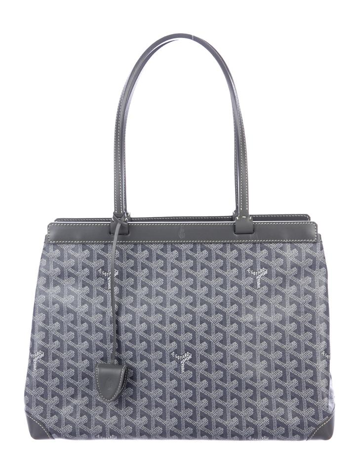 eb340cf32810 Goyard Classic Bellechasse Biaude Pm Convertible Monogram Tan Top-handle  Grey Leather Canvas Tote