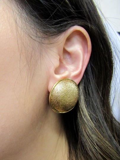 St. John NEW ST JOHN VINTAGE CLIP-ON EARRINGS 80'S BUTTON 22 K GOLD PLATED