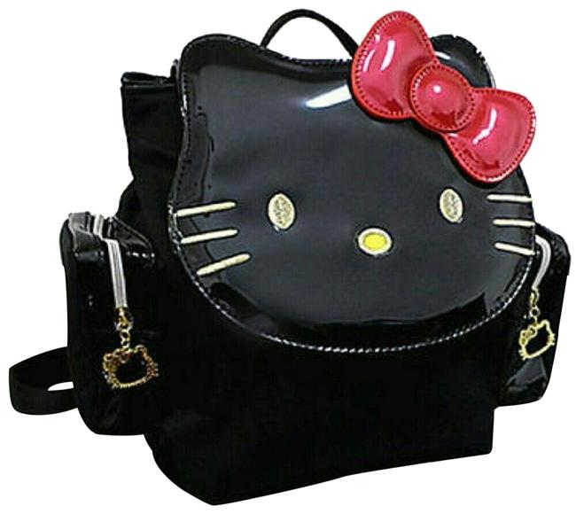 Item - Purse Black & Red Patent Leather Backpack