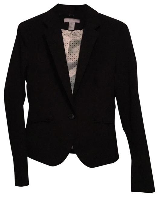 Preload https://img-static.tradesy.com/item/24239479/h-and-m-black-fitted-blazer-size-4-s-0-3-650-650.jpg