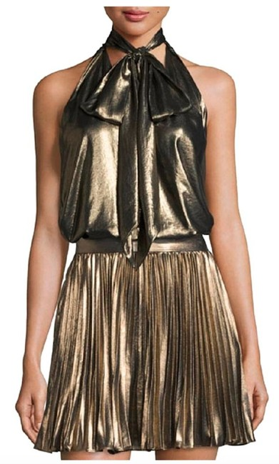 Item - Gold New with Tags Lame Pleated Metallic Skirt Size 6 (S, 28)