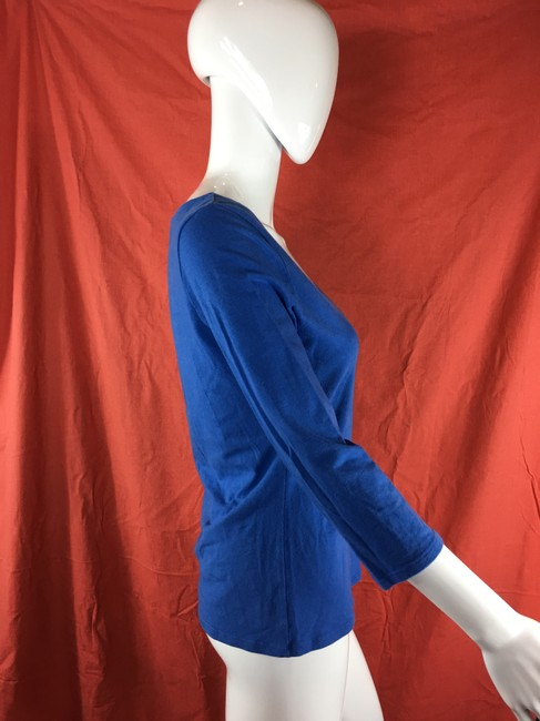 Boston Proper Blouse Fitted Stretchy T Shirt Royal blue