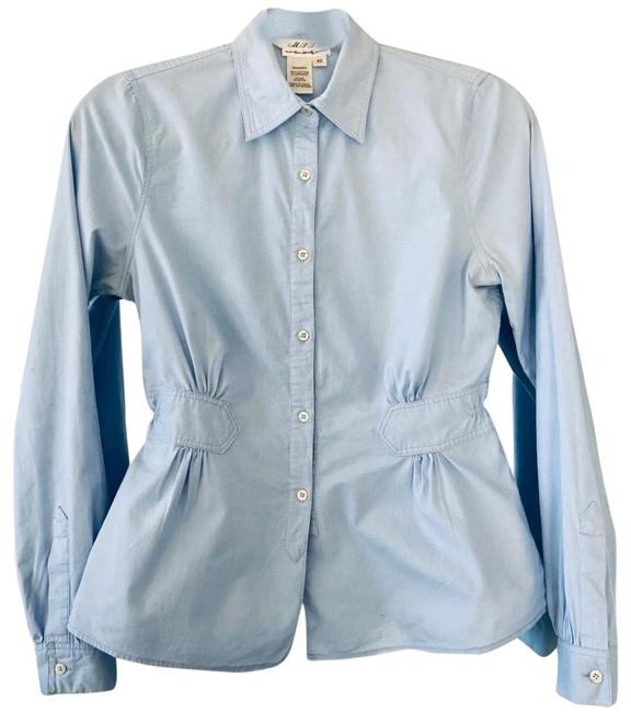 Preload https://img-static.tradesy.com/item/24239668/max-studio-blue-pale-baby-a-line-ruffle-button-down-top-size-0-xs-0-1-650-650.jpg