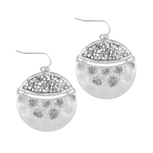 Riah Fashion Hammered Statement Earrings