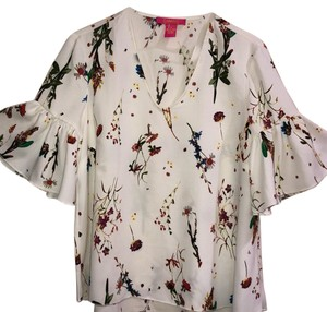 Catherine Malandrino Top white and floral pattern