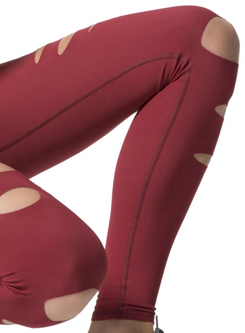 Item - Red High-waist Ripped Warrior Activewear Bottoms Size 14 (L, 34)