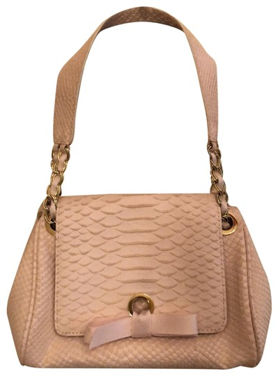 Preload https://img-static.tradesy.com/item/24239800/banana-republic-snakeskin-print-audrey-hepburn-from-the-early-2000-s-baby-pink-faux-leather-baguette-0-3-540-540.jpg