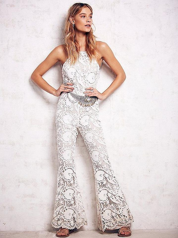 b9a058013d2 Stone Cold Fox White Nude Free People Dylan Jumper Romper Jumpsuit ...