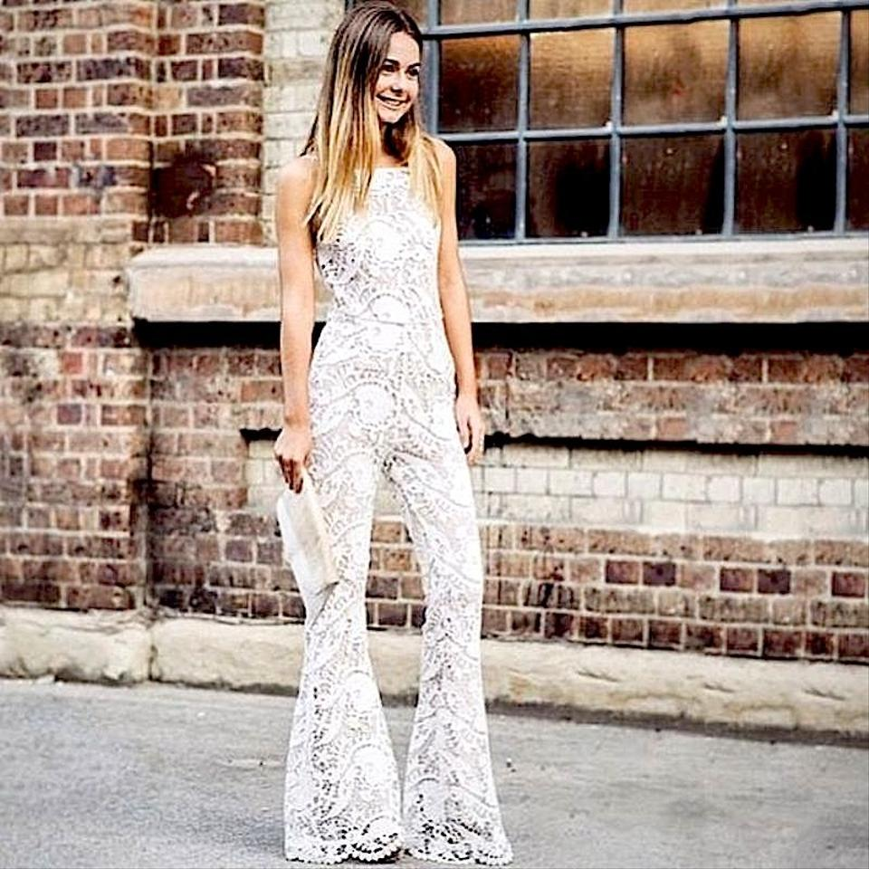 49150acc006 Stone Cold Fox White Nude Free People Dylan Jumper Romper Jumpsuit ...