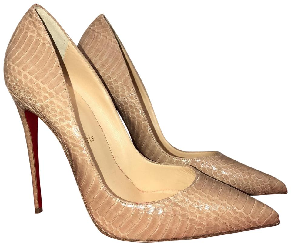 bb781f4862a4 Christian Louboutin Nude  so Kate  120 Python Snake 38 (Us 8) Pumps ...