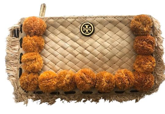 Tory Burch natural/orange Clutch
