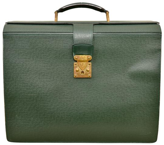 Preload https://img-static.tradesy.com/item/24240022/louis-vuitton-oural-business-briefcase-m30024-green-taiga-leather-laptop-bag-0-1-540-540.jpg