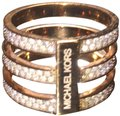 Michael Kors Michael Kors woman's rose gold tiered ring with crystal pave
