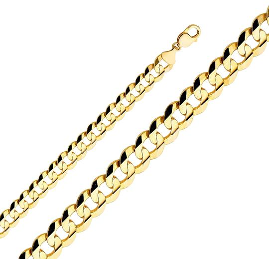 Preload https://img-static.tradesy.com/item/24240177/yellow-14k-solid-men-s-122-mm-cuban-curb-chain-85-necklace-0-1-540-540.jpg