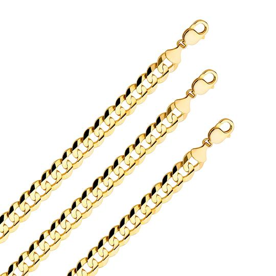 Top Gold & Diamond Jewelry 14k Yellow Gold Solid Men's 12.2 mm Cuban Curb Chain Necklace - 8.5''