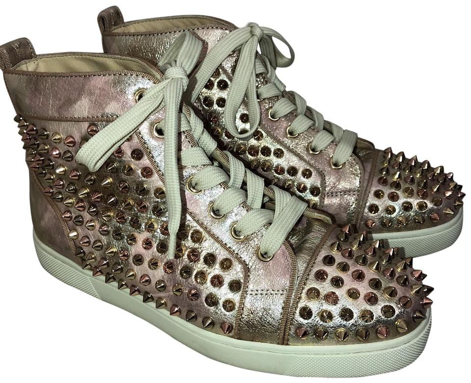 "2026f4155b7 Christian Louboutin Rose Gold ""louis Orlato"" Spikes Sneaker Sneakers ..."