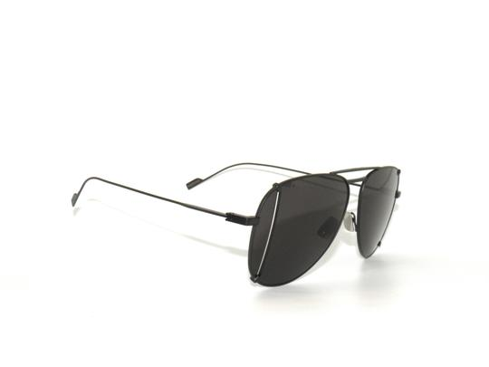 Saint Laurent Saint Laurent 193 T Cut 002 Black Gray Sunglasses