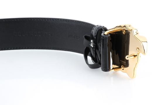 Versace Versace Black Patent Leather Medusa Belt