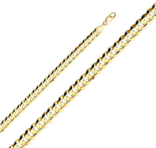 Preload https://img-static.tradesy.com/item/24240398/yellow-14k-solid-men-s-98-mm-cuban-curb-chain-26-necklace-0-1-540-540.jpg