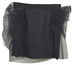 Y/Project Tulle Mini Holiday Date Night Night Out Mini Skirt BLACK