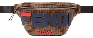 Fendi Fendi X Fila Logo Applique Leather Belt Bag