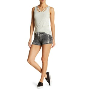 Poof Couture Lace-up Burnout Shorts
