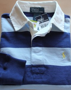 Rugby Ralph Lauren Polo Boy's Button Down Shirt Striped