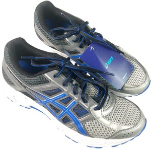 Asics Lace-up Blue Silver Athletic