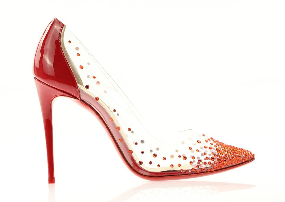 393d9dd90cd Christian Louboutin Pigalle Follies Strass Crystal Degrastrass Red Pumps  Image 0 ...