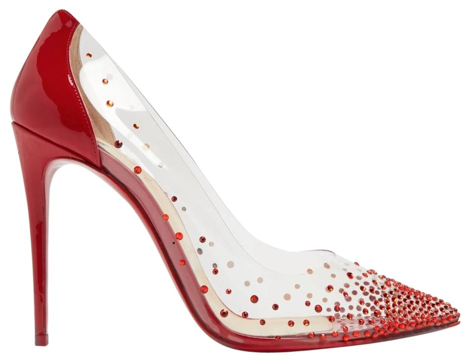 best website 47a30 13598 Christian Louboutin Red Degrastrass Pvc 100 Clear Plastic Patent Pigalle  Stiletto Heel Pumps Size EU 41.5 (Approx. US 11.5) Regular (M, B)