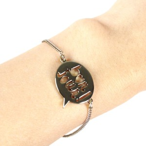 BCBGeneration Toned Bon jour charm French word chain