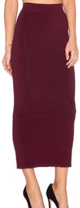 Ronny Kobo Collection Maxi Skirt Bordeaux Red