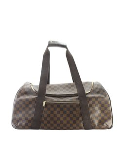 18308586e972 Louis Vuitton Coated Canvas Roller Brown Travel Bag