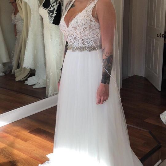 Maggie Sottero Lace Wedding Gown: Maggie Sottero Ivory Over Nude Lace And Tulle Connie