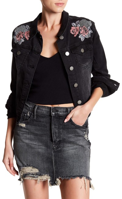 Item - Black And Embroidered Jacket Size 12 (L)